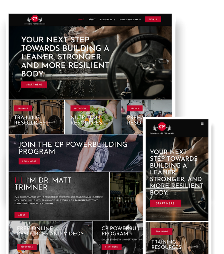 Web Design Project - Clinical Performance