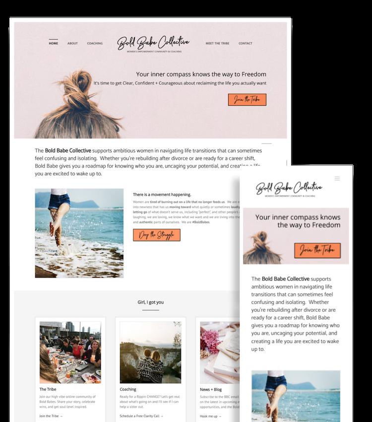 Web Design Portfolio - Bold Babe Collective